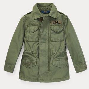 NWT RALPH LAUREN Girl' Cotton Twill Jacket
